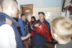 Провели пізнавальну екскурсію для учнів в пожежній частині м. Олександрія